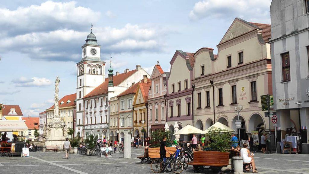 Историческая площадь в городе Тршебонь, Чехия