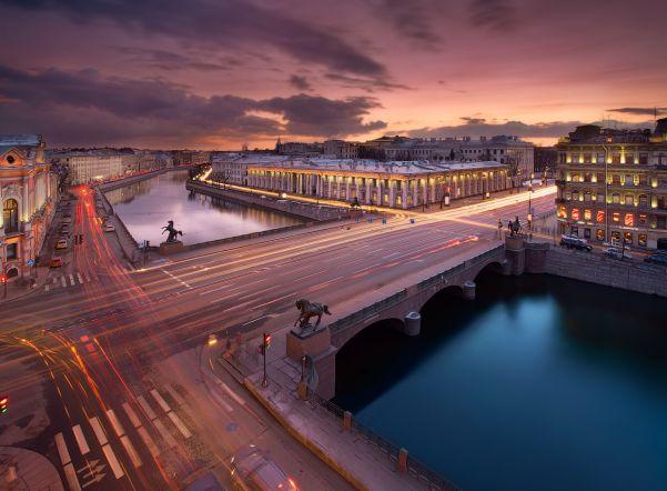 Панорама Аничкова моста