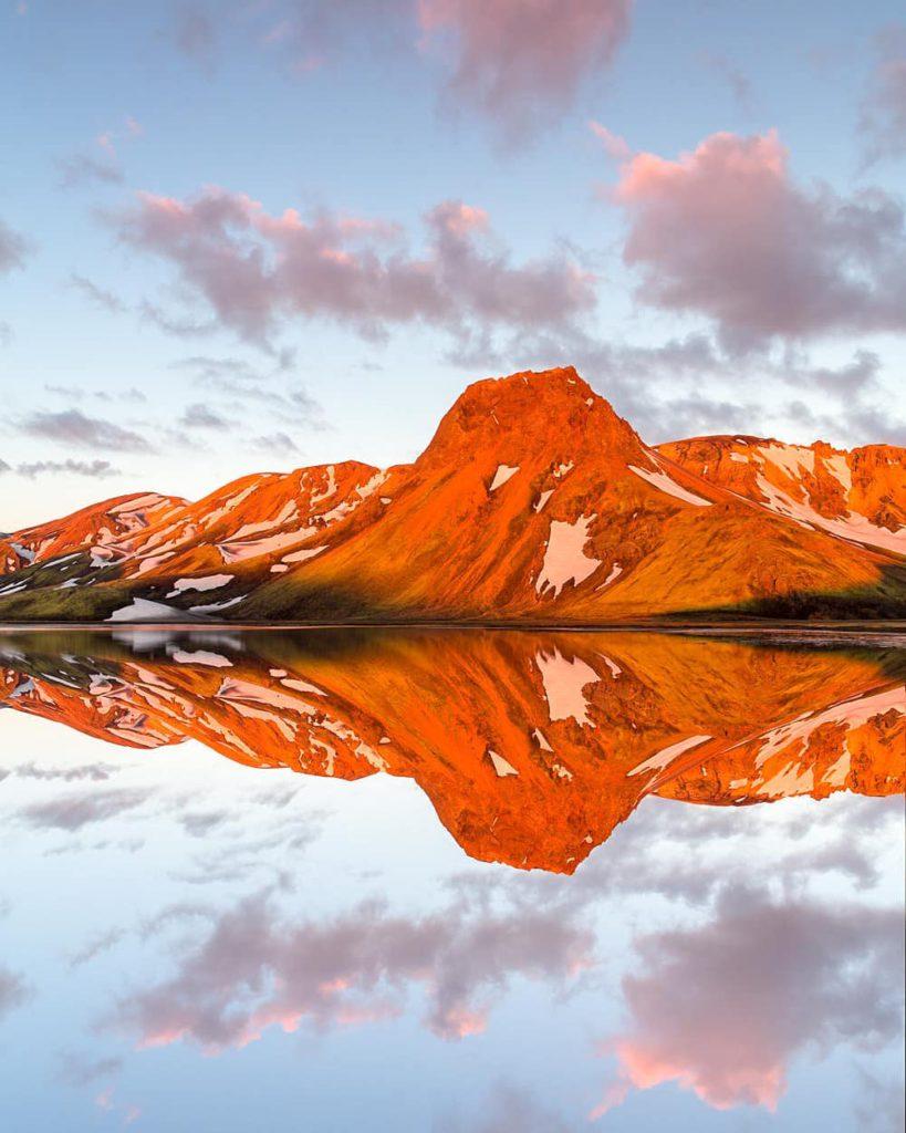 озеро Ландманналаугар в Исландии