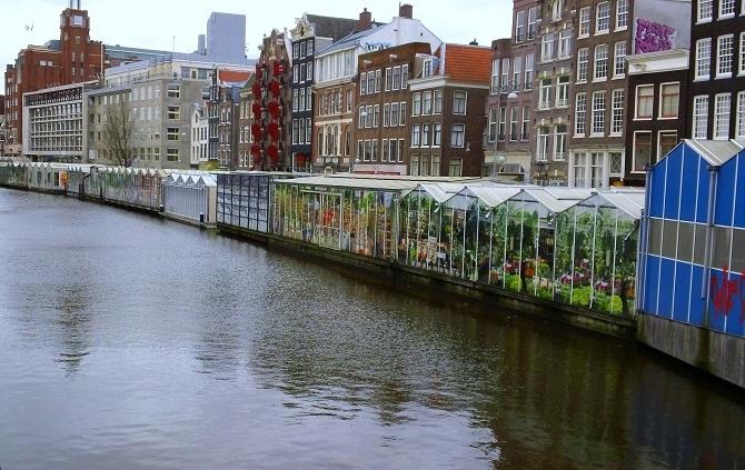 Плавучий цветочный рынок Амстердам