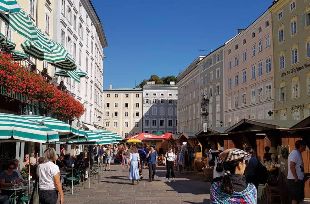 Старая рыночная площадь в Зальцбурге