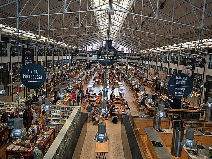 Продуктовый рынок в Лиссабоне