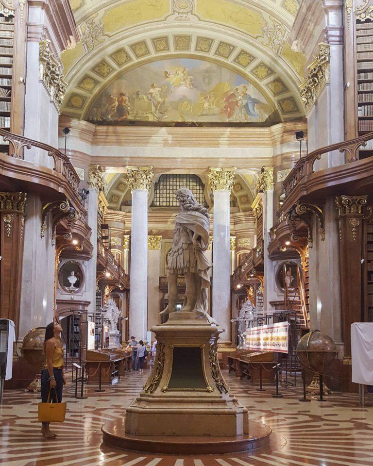 Вид на австрийскую национальную библиотеку