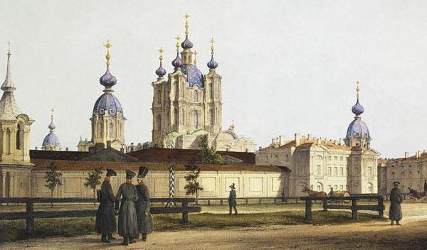 Смольный собор в 18 веке