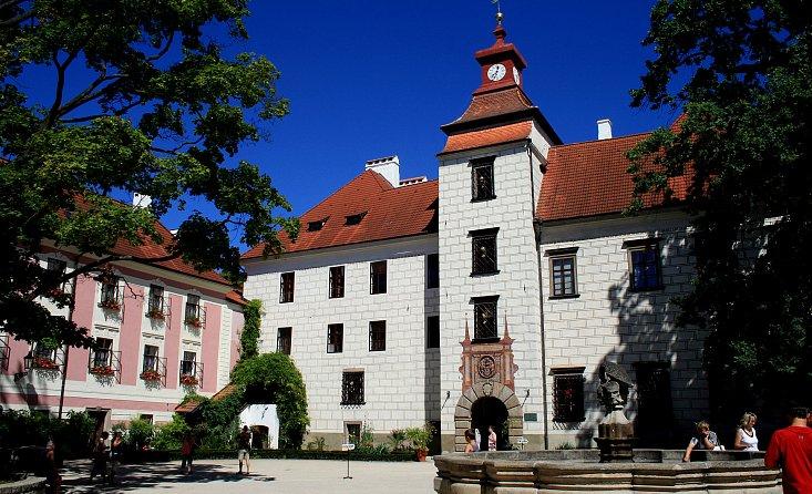 Замок Рожмберков в городе Тршебонь в Чехии