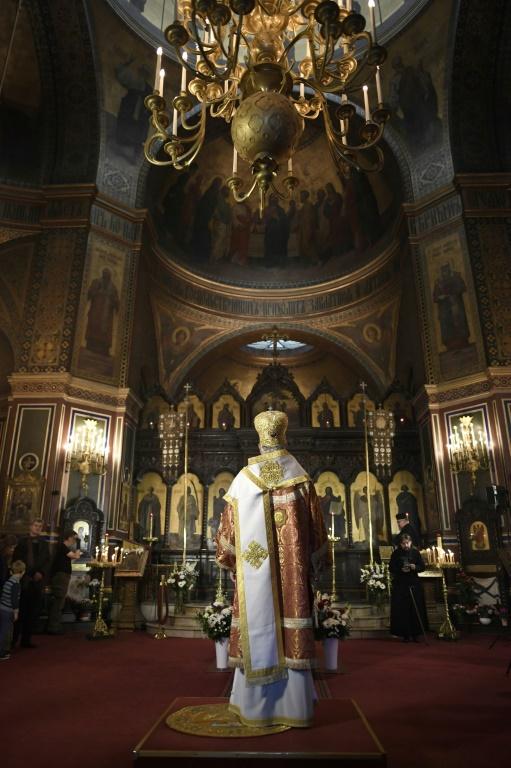 Служба в Соборе Александра Невского