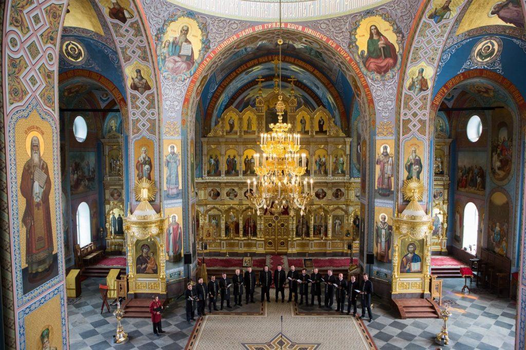 Собор Александра Невского: вид внутри