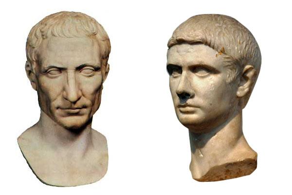 Цезарь в профиль и в анфас