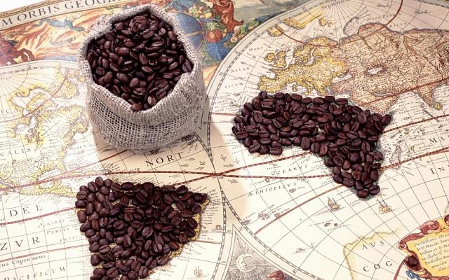 Карта распространения кофе