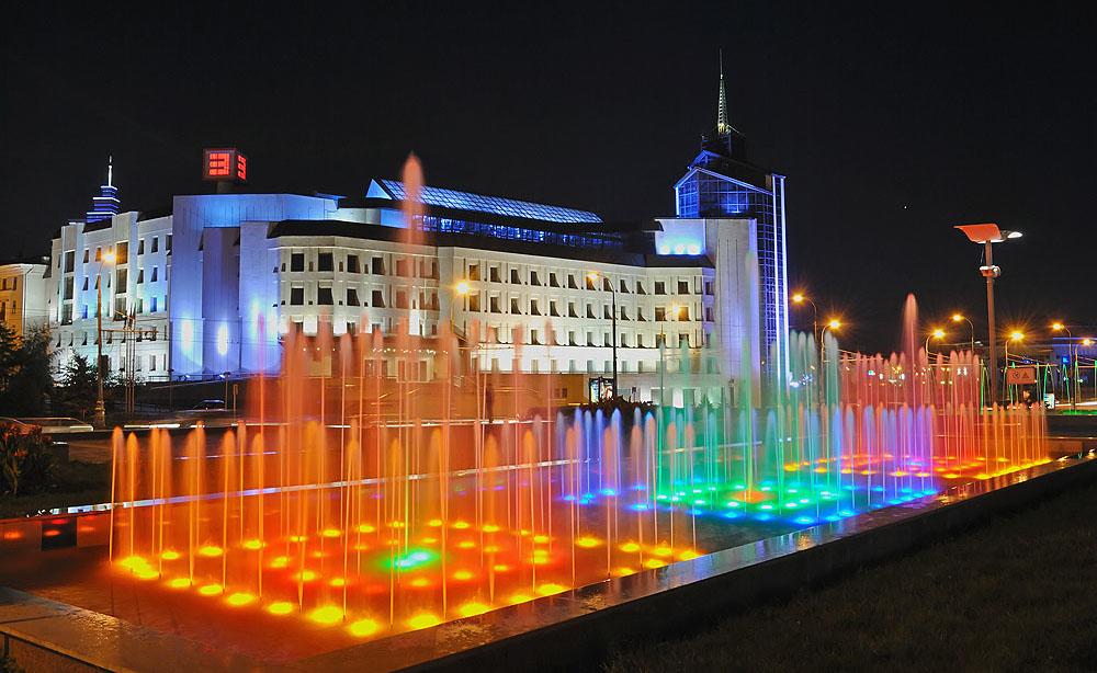 Каскад фонтанов Казань