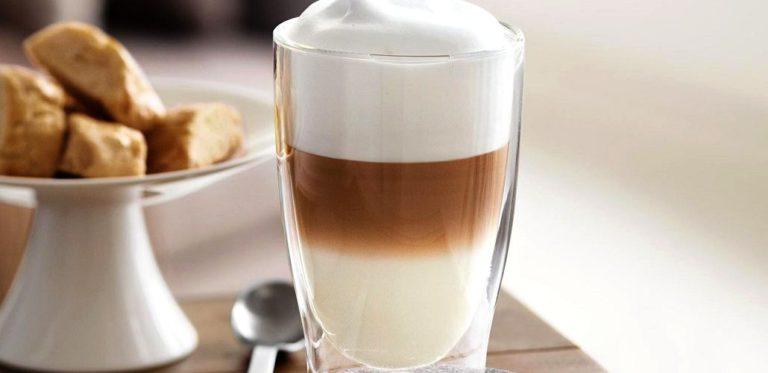 Красивая фотография кофе латте