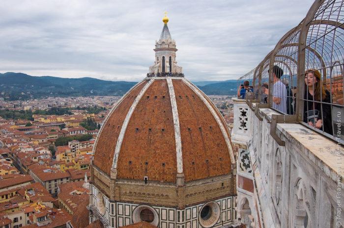 Вид с обзорной площадки на Флоренцию