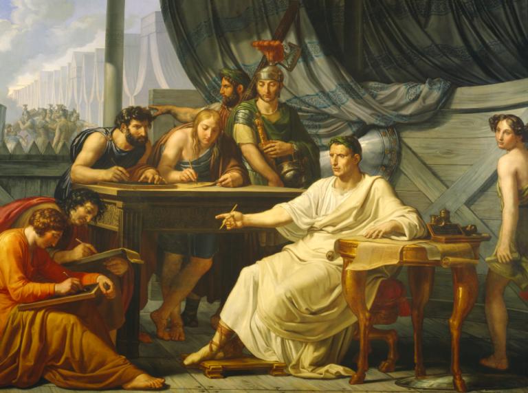 Цезарь диктует свои изречения
