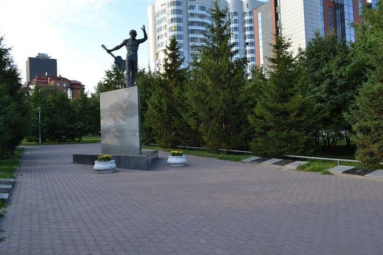 Аллея бардов в Новосибирске
