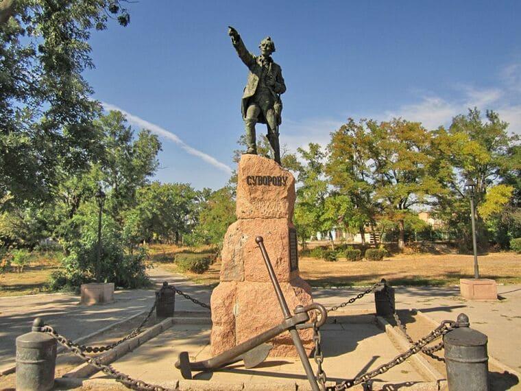 Памятник А.В. Суворову в Симферополе