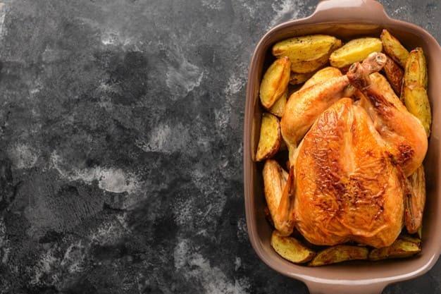 Жареная курица к грогу