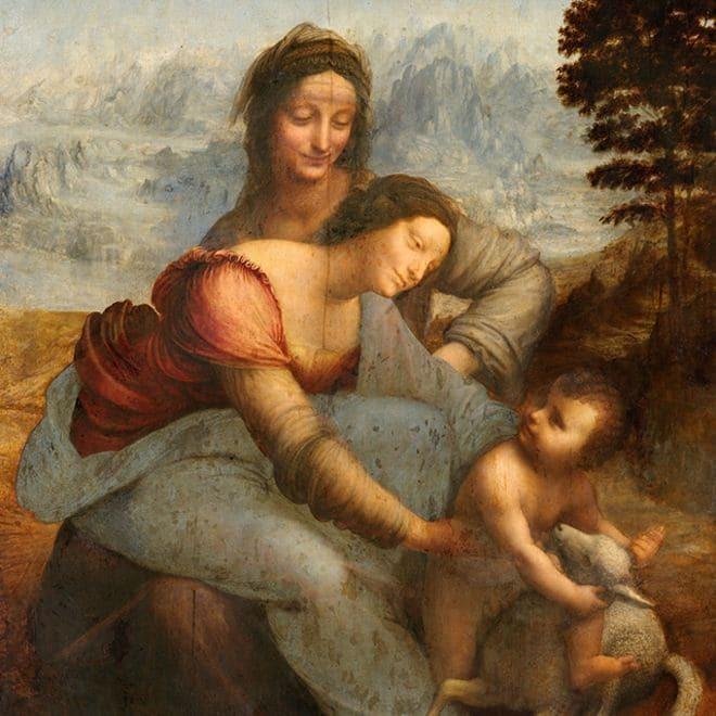 Святая Анна с Мадонной и младенцем Христом