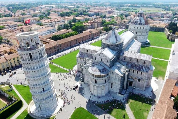 Пизанская башня сверху