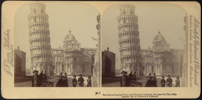 Старые фотографии Пизанской башни