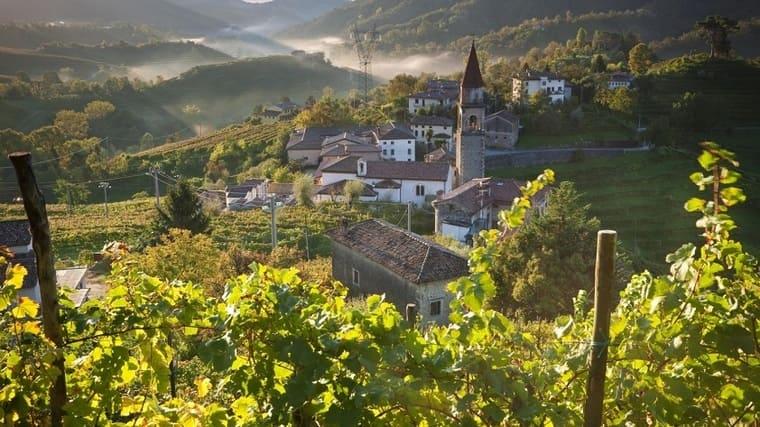 деревня Просекко в Италии