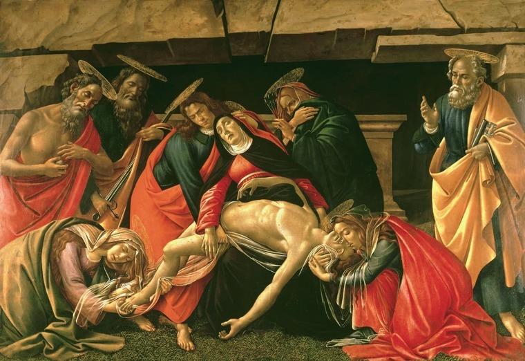 Оплакивание Христа, Ботичелли