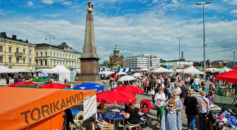 Рыночная площадь в Финляндии